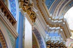 L'intérieur du monastère d'église catholique Photographie stock libre de droits