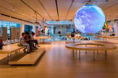 L'intérieur du musée célèbre des sciences de Trento en Trentino Alto Adige Le grand interactiv Photographie stock