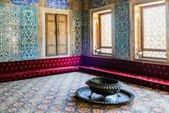 L'intérieur du palais de Topkapi Photo stock
