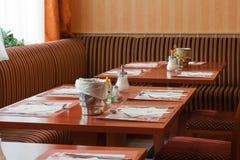 L'intérieur du restaurant Images stock