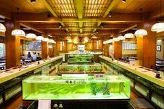 L'intérieur du restaurant japonais célèbre à Fukuoka Japon image stock