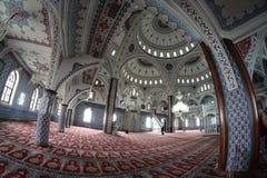 L'intérieur du temple religieux islamique Images libres de droits