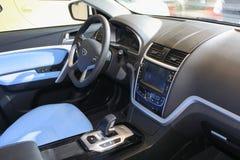 L'intérieur du véhicule électrique pur d'emgrand de Geely Images stock