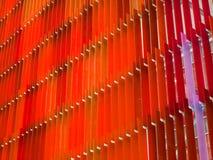 l'intérieur en plastique acrylique deux de feuille modifient la tonalité rouge et rouge-clair Photos libres de droits
