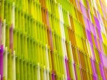 l'intérieur en plastique acrylique sept de feuille rayent et colorent le brun jaune Images libres de droits
