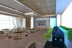 L'intérieur moderne avec 3D parent le bar Images stock
