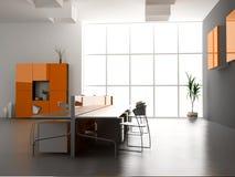 L'intérieur moderne de bureau illustration de vecteur