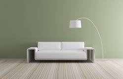 L'intérieur moderne avec le sofa 3d rendent Photos libres de droits