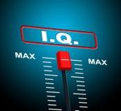 L'intelligence Q.I. représente Brain Power And Acumen illustration de vecteur