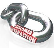 L'interazione 3d del cliente esprime l'impegno di associazione dei collegamenti a catena Immagini Stock Libere da Diritti