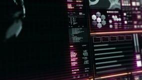 L'interface/écran futuristes de Digital/a détaillé le fond abstrait clips vidéos