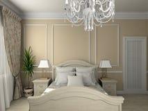 l'interiore classico 3d rende Fotografia Stock