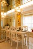 L'interiore costoso di lusso della sala da pranzo Fotografie Stock Libere da Diritti