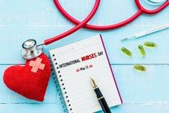 L'International soigne le jour, le 12 mai Soins de santé et concept médical photographie stock libre de droits