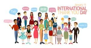 L'International vous remercient jour illustration libre de droits