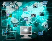 L'Internet dans son ensemble Photo libre de droits