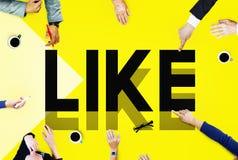 L'Internet de réseau de lecture rapide aiment le concept social de media Image stock