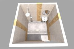 l'interno del bagno 3D rende in Armenia royalty illustrazione gratis
