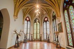 L'interno del castello Vajdahunyad nel museo di Budapest di agricoltura Immagini Stock