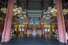 L'interno del padiglione, palazzo di Changdeokgung, Seoul fotografia stock