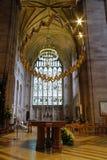 L'interno della cattedrale di Hereford ha costruito 1079 fotografia stock