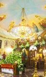 L'interno della chiesa Fotografie Stock Libere da Diritti