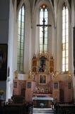 L'interno della chiesa con le icone Immagini Stock Libere da Diritti
