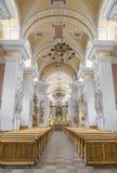 L'interno della chiesa dei francescani Fotografia Stock Libera da Diritti