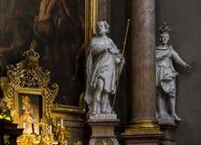 L'interno della chiesa di St Peter è un parrocchiale cattolico nello stile di Boraco Fotografia Stock Libera da Diritti