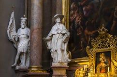 L'interno della chiesa di St Peter è un parrocchiale cattolico nello stile di Boraco Immagini Stock
