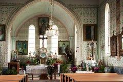 L'interno della chiesa in Eibenthal Fotografia Stock