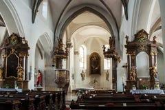 L'interno della chiesa in Ivancice Immagini Stock Libere da Diritti