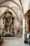 L'interno della chiesa in Ivancice Fotografie Stock Libere da Diritti