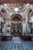 L'interno della chiesa in Kromeriz Fotografia Stock Libera da Diritti