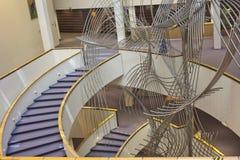 L'interno della costruzione del Parlamento Europeo Immagini Stock Libere da Diritti