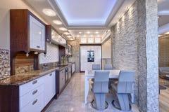 L'interno della cucina Fotografia Stock