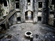 L'interno della fortezza di Mamula Fotografia Stock