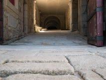 L'interno della fortificazione napoleonica/castello a Foz fa il Duero, Oporto, Portogallo immagini stock