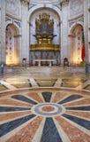 L'interno di Engracia della chiesa del panteon nazionale ora lisbona Fotografie Stock Libere da Diritti