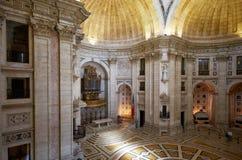 L'interno di Engracia della chiesa del panteon nazionale ora lisbona Fotografia Stock Libera da Diritti
