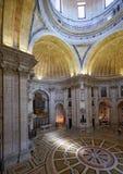 L'interno di Engracia della chiesa del panteon nazionale ora lisbona Fotografie Stock
