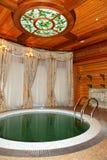 L'interno di sauna in Mezhigirya Immagine Stock