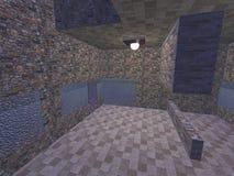 l'interno di un appartamento vuoto del mattone illustrazione vettoriale