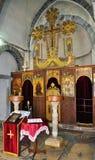 L'interno di una chiesa ortodossa immagine stock libera da diritti
