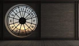 L'interno di vecchia torre di orologio Fotografia Stock Libera da Diritti