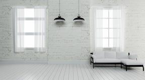 L'interno industriale 3d rende le immagini Fotografia Stock Libera da Diritti