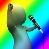 L'interprète montre des expositions de Live Music Songs Or Talent Photos libres de droits