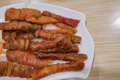 L'intestino fritto del maiale Fotografia Stock