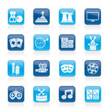 L'intrattenimento obietta le icone illustrazione vettoriale