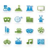L'intrattenimento obietta le icone royalty illustrazione gratis